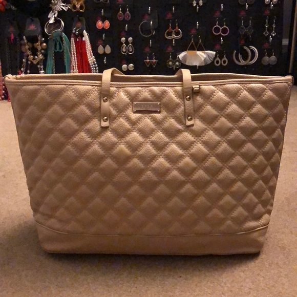BCBG Paris Handbags - BCBG Tan/Nude Tote Purse